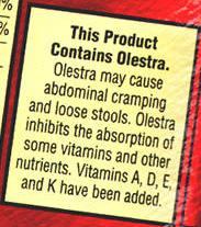 olestra warning