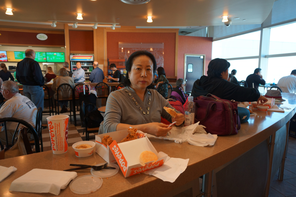 Food Service Market Research eating Popeyes