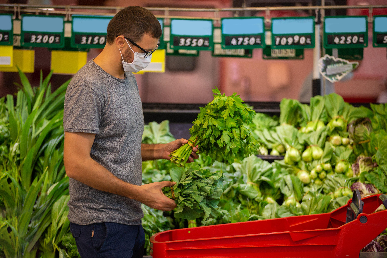 coronavirus grocery market research produce safety