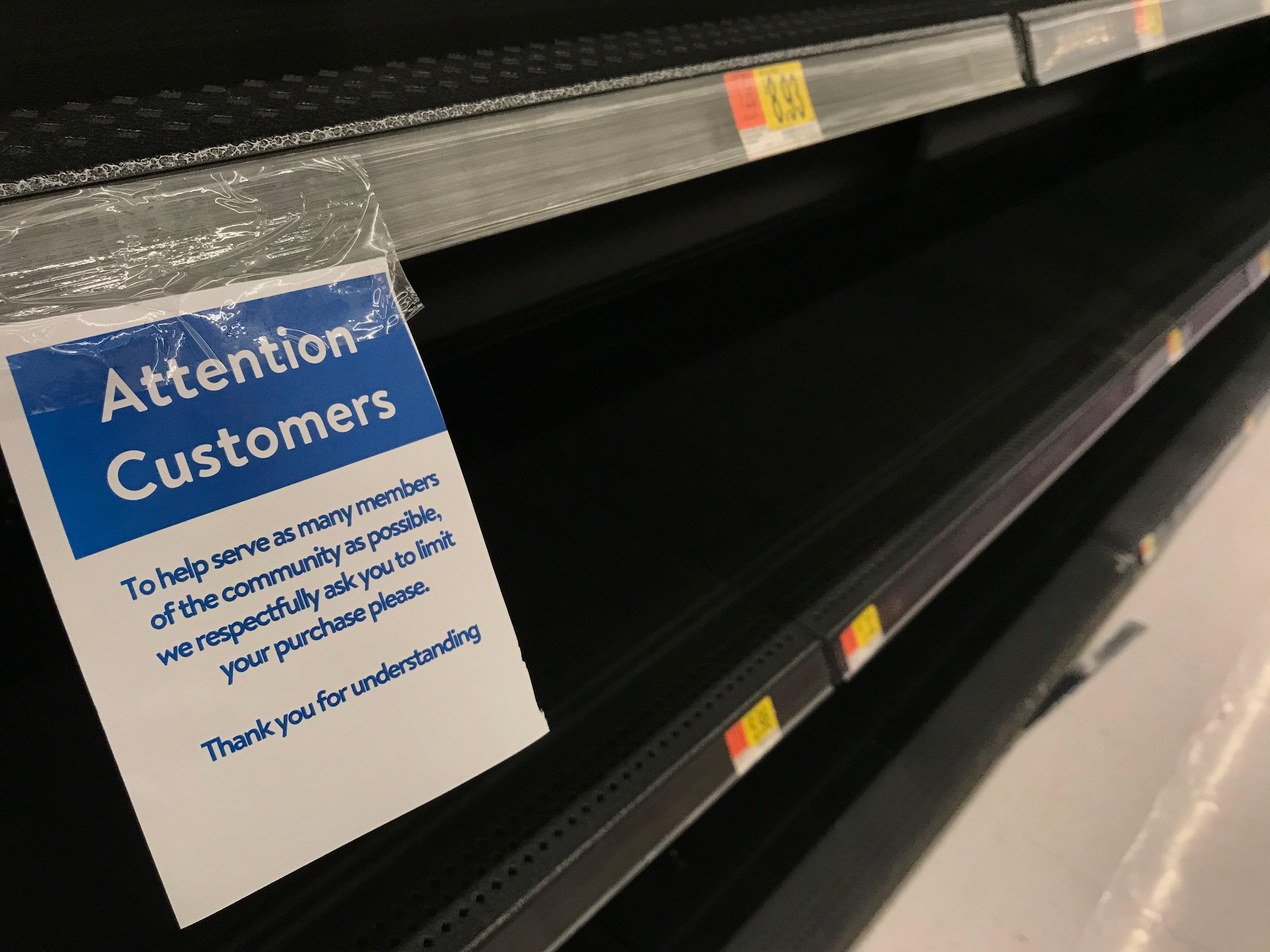 coronavirus grocery market research rationing