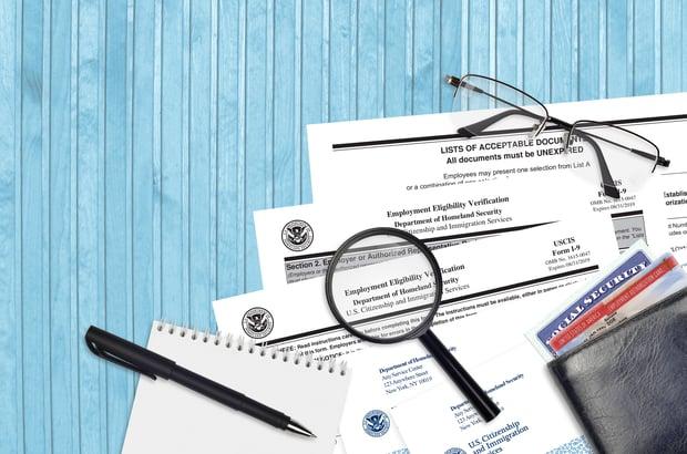 employment eligibility verification section 2 form i-9