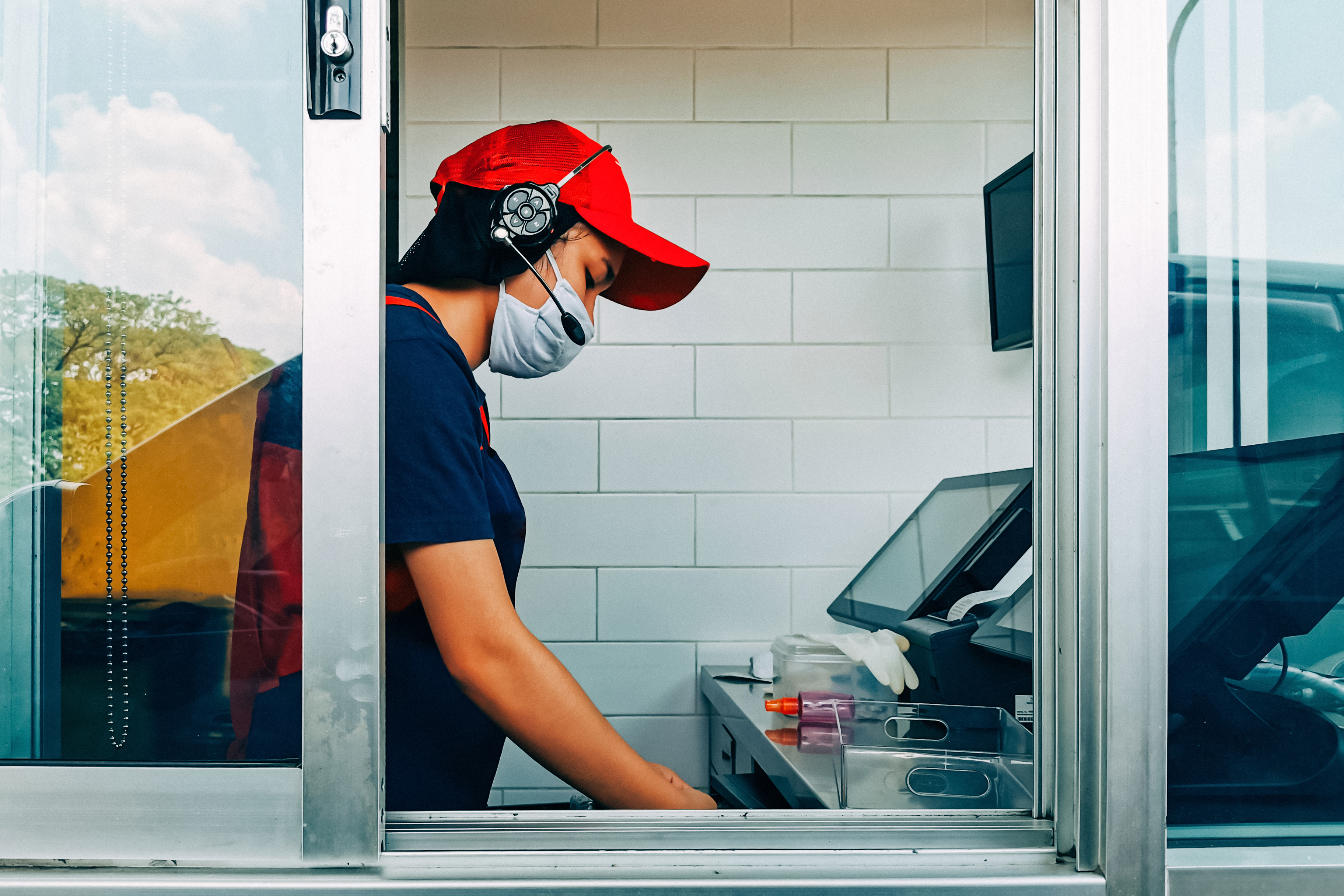 fast food market research face mask