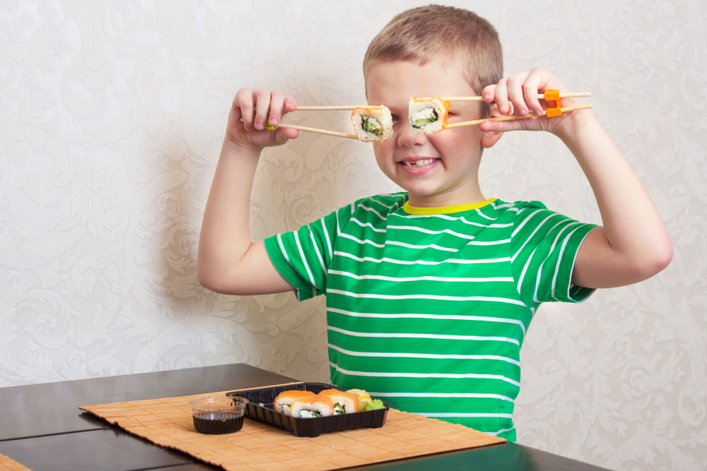 food service market research child sushi