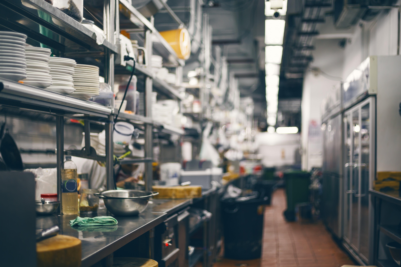 food service market research empty kitchen