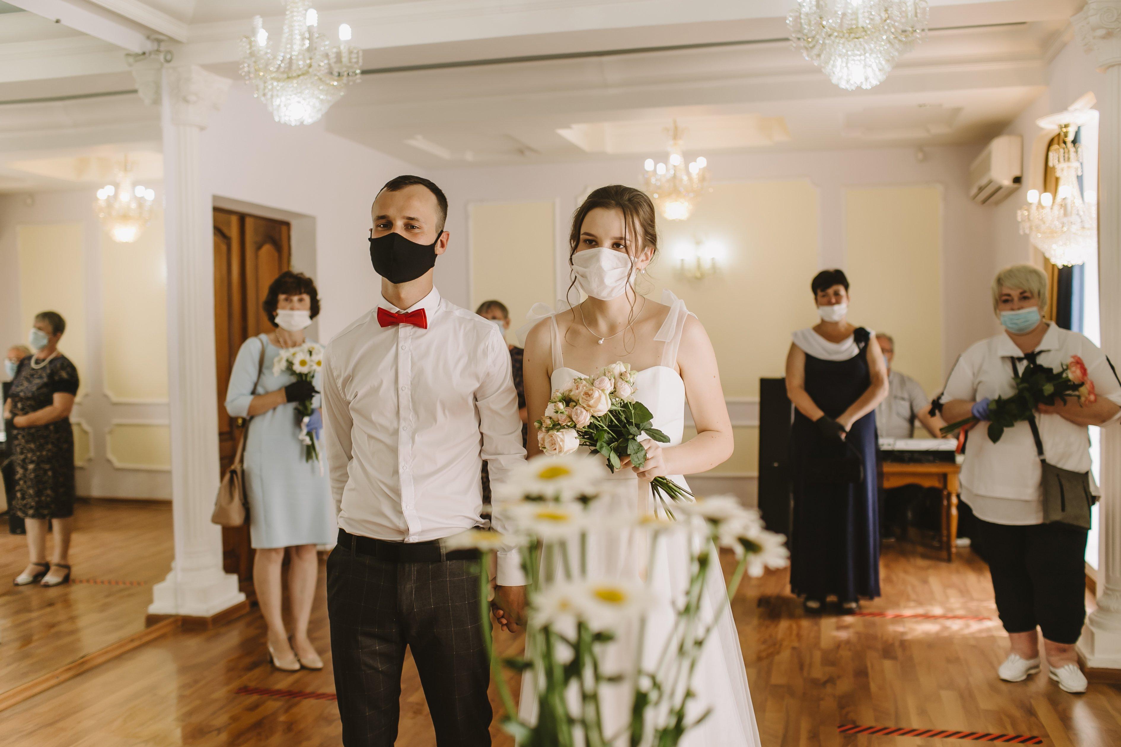 health safety market research distanced wedding