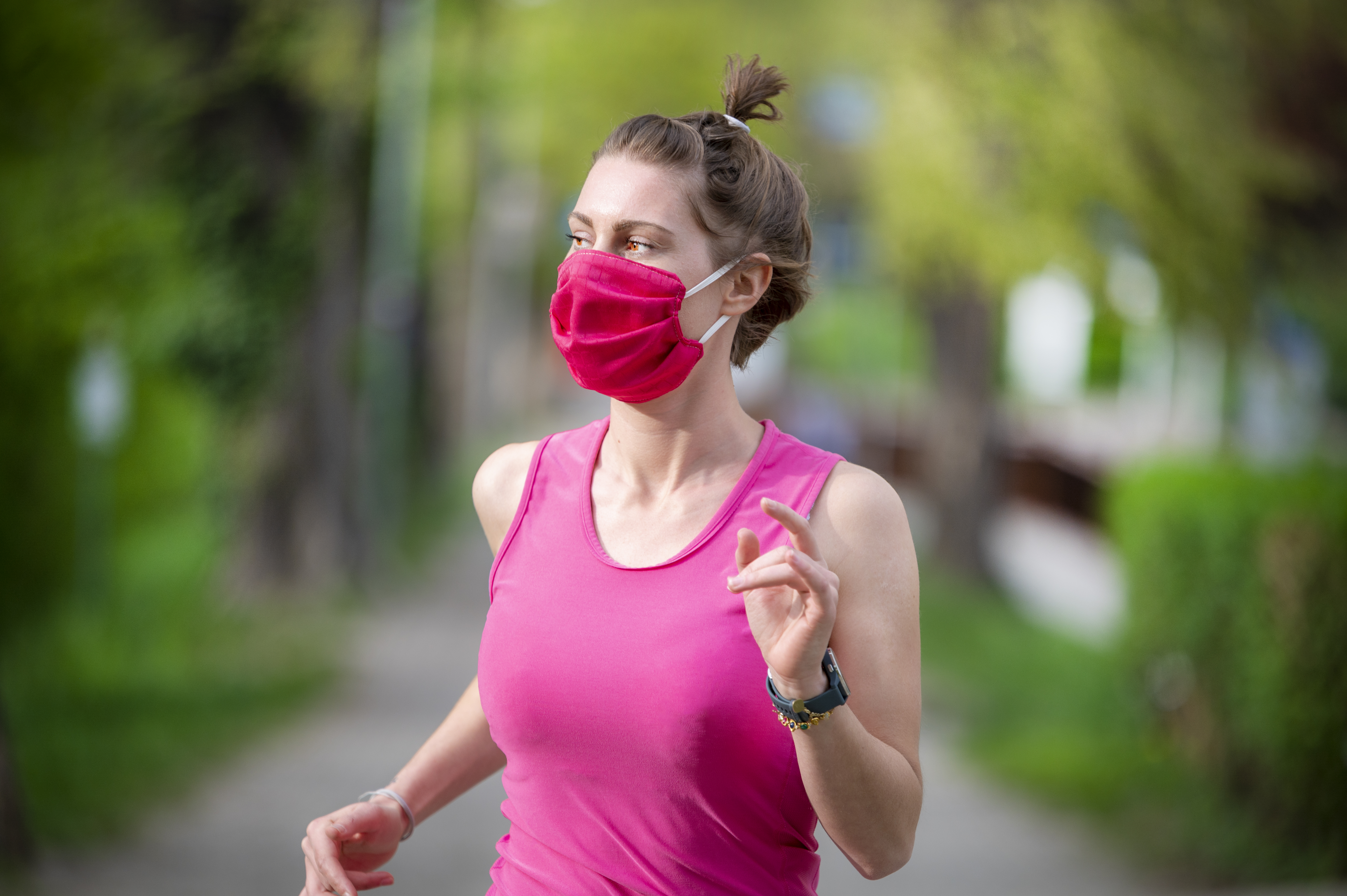 health safety market research face mask jogging