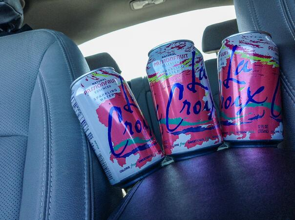 LaCroix along for the ride
