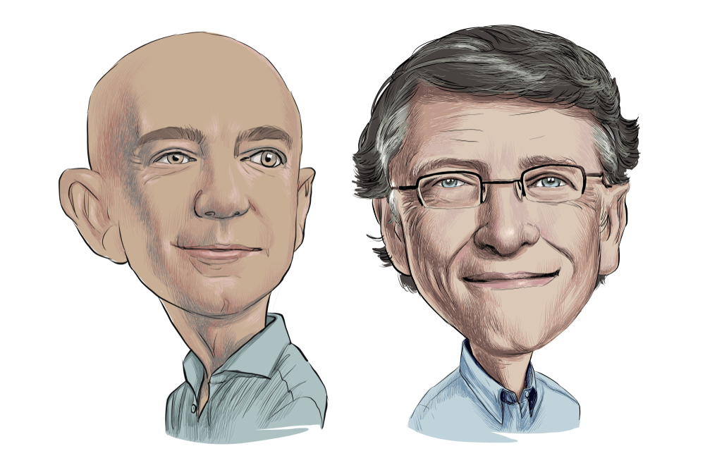 market research bezos and gates
