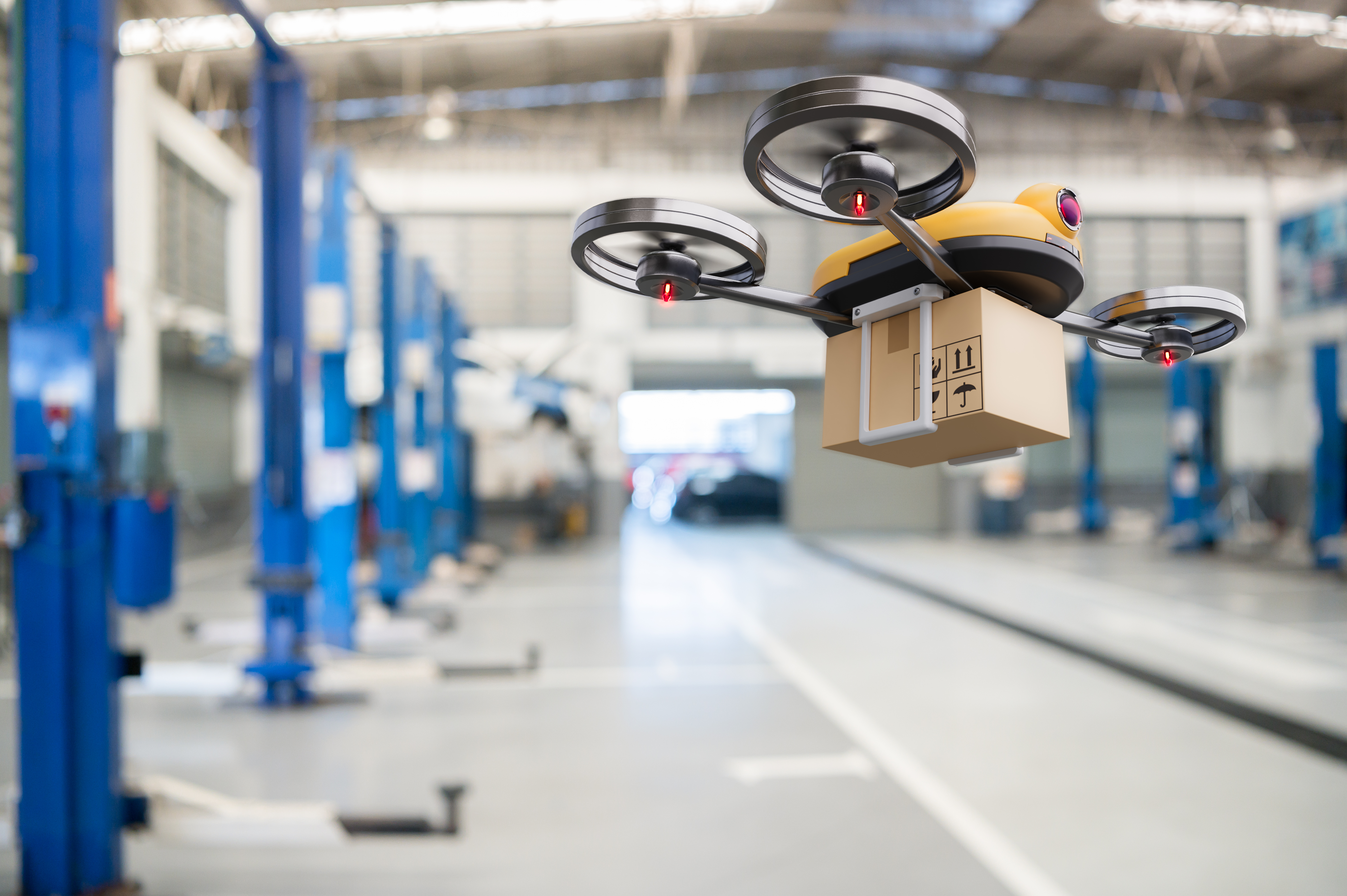 market research drone delivery warehouse