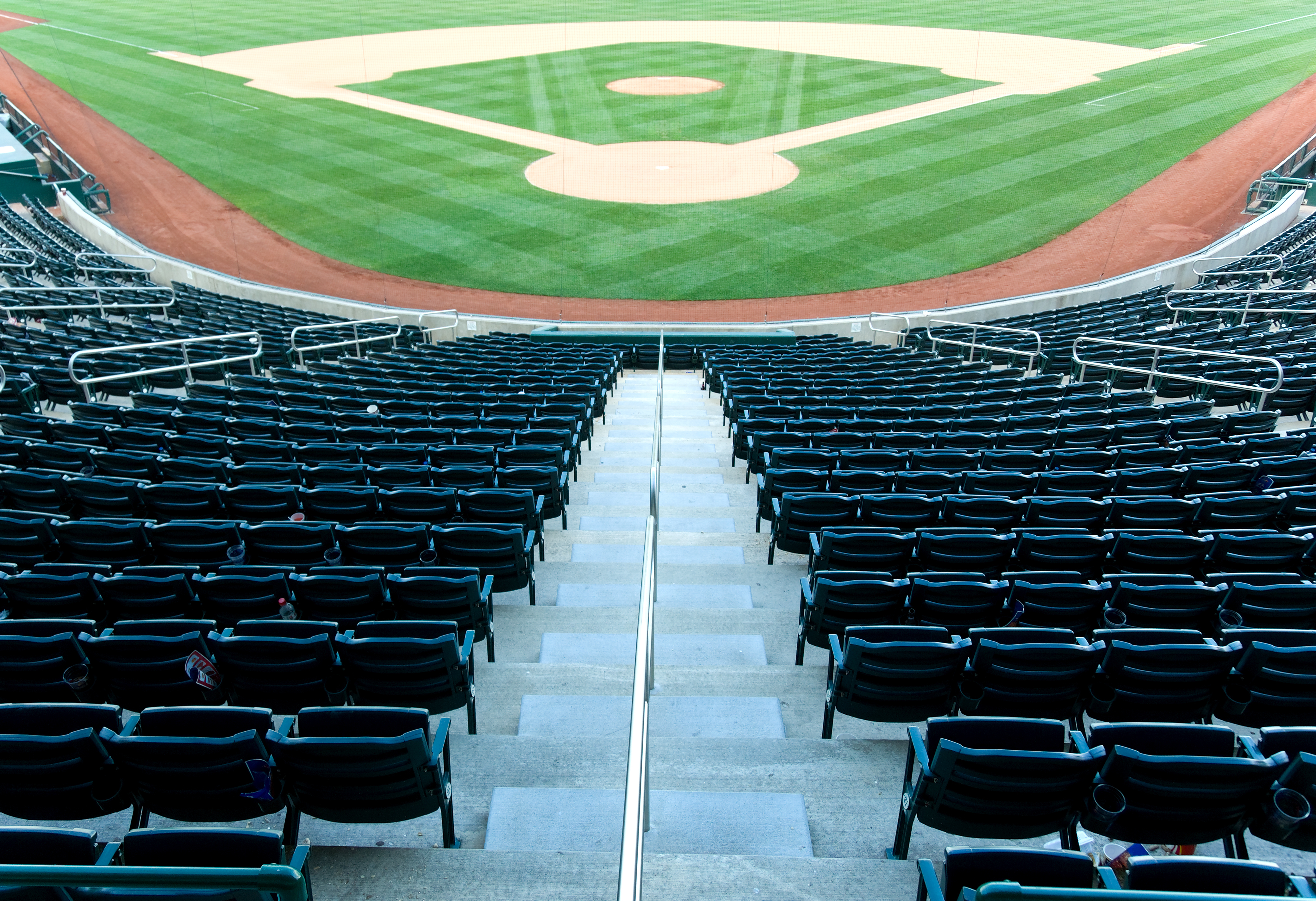 market research empty baseball stadium