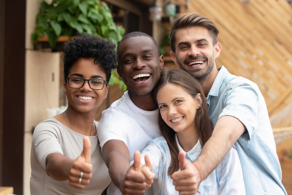 market research net promoter score group thumbs up