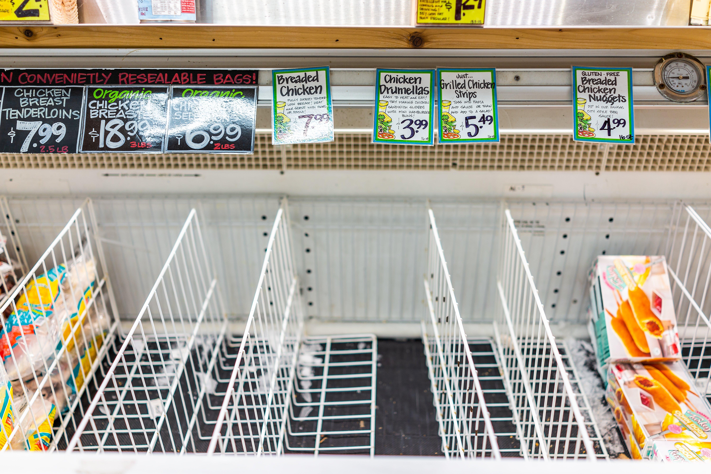 market research trader joe empty freezer