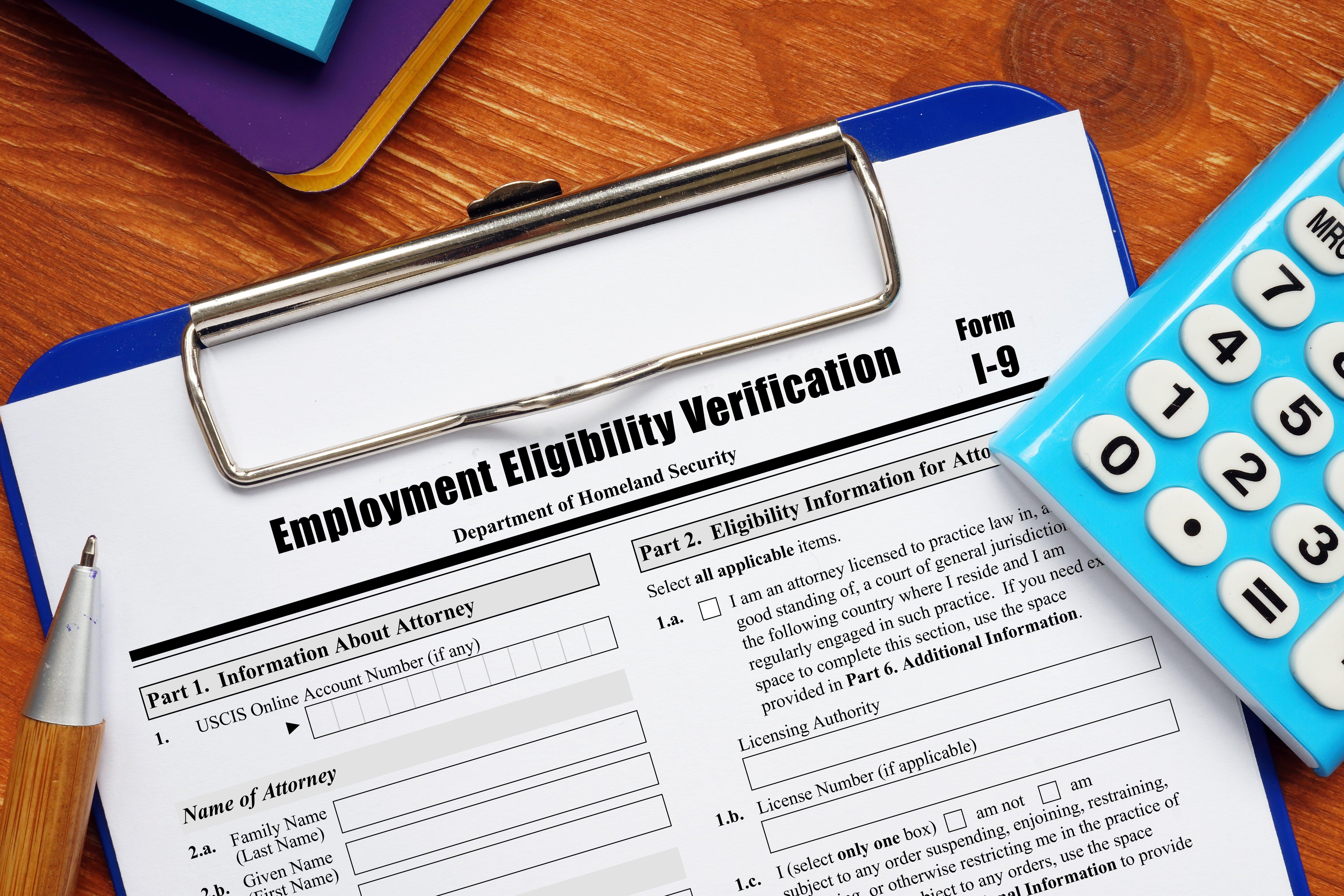remote employment verification i-9
