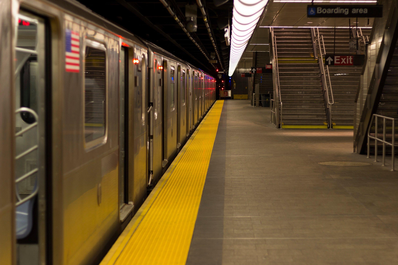 transportation market research empty subway station